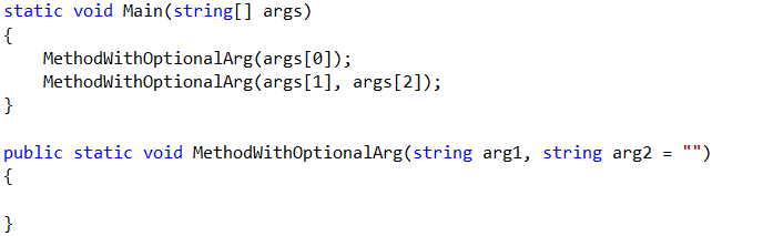 Example of Optional Parameters