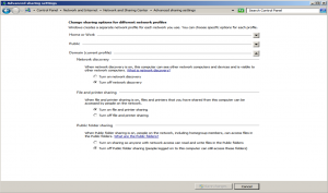 Network Discovery Setting