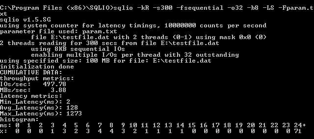 Sequential Read 1 Disk
