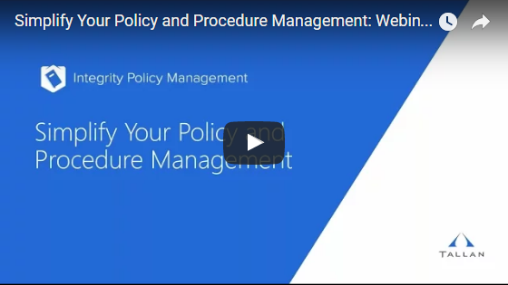 Integrity Policy Management Webinar Screenshot