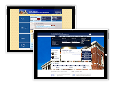 Massachusetts Legislative User Experience Client Work