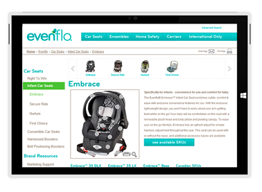 Evenflo User Experience Client Work