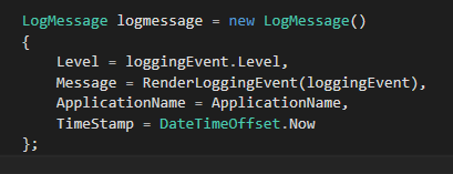 New LogMessage