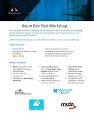 Azure VS Dev Test Workshop