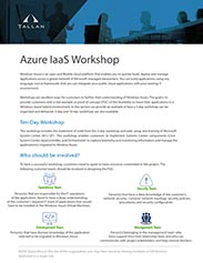 Azure IaaS 10-day Workshop