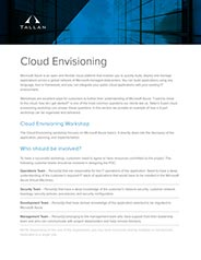 Cloud Envisioning