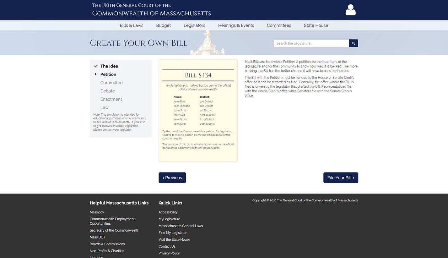 Create Your Own Bill