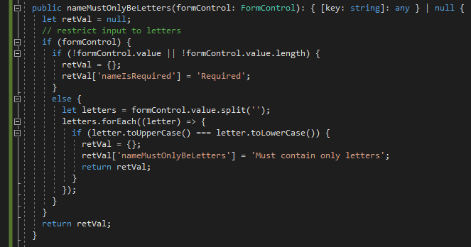 Intuitive Validator Code 1