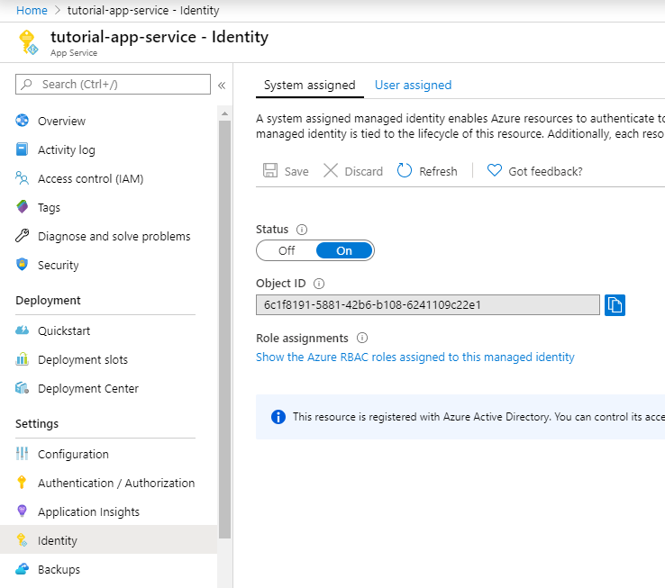 Accessing SQL Server with Managed Identities